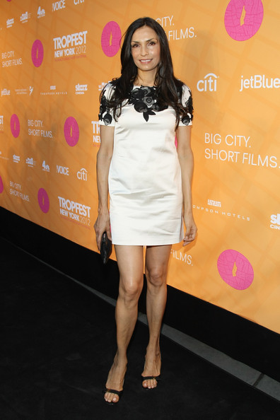 Famke Janssen Mini Dress