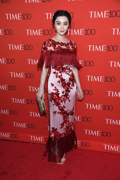 Fan Bingbing Fringed Dress [red carpet,red,dress,flooring,carpet,lady,beauty,gown,red carpet,shoulder,fashion,fan bingbing,time 100,jazz,new york city,lincoln center]