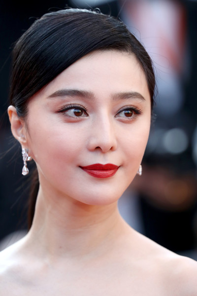 Fan Bingbing Ponytail [ash is the purest white,hair,face,lip,eyebrow,hairstyle,chin,beauty,skin,forehead,cheek,fan bingbing,screening,cannes,france,red carpet arrivals,jiang hu er nv,cannes film festival,palais des festivals]