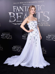 Alison Sudol wowed in this princess-worthy pale-lilac gown by Miu Miu at the world premiere of 'Fantastic Beasts and Where to Find Them.'