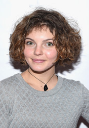 Camren Bicondova attended Fashion for Action wearing a cute curled-out bob.