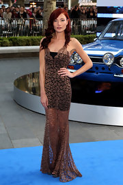 Clara Paget's sheer lace dress showed off just a bit of skin at the 'Fast & Furious 6' premiere in London.