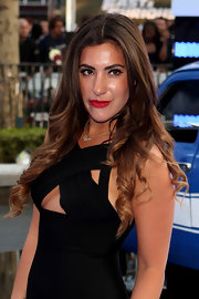 Gabriella Ellis chose a super glamorous wavy 'do for her look at the 'Fast & Furious 6' London premiere.