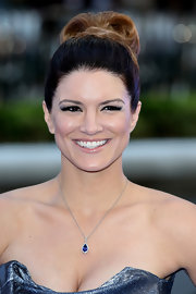 Gina Carano chose a chic high bun for her look at the world premiere of 'Fast & Furious 6.'