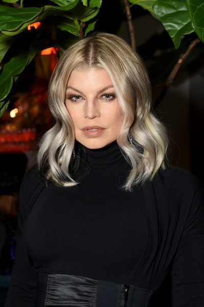 Fergie Medium Wavy Cut [cr fashion book celebrates launch of cr girls 2018,hair,blond,beauty,human hair color,hairstyle,lady,girl,fashion model,long hair,black hair,fergie,cr girls 2018,calendar,technogym - inside,partnership,spring place,new york city,cr fashion book celebrating,launch]