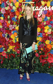 Melissa Berkelhammer chose this black sequined blazer for her look while at a the NYC launch of L'Icona Highlighting.