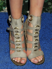 Lauren Remington Platt chose these cool boho-style gladiator heels for her look at the Ferragamo event in NYC.