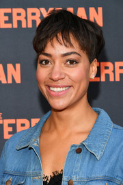 Cush Jumbo attended the Broadway opening of 'The Ferryman' wearing her hair in a boy cut.