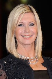 Olivia Newton-John wore a gorgeous diamond necklace at the Rome Film Festival.