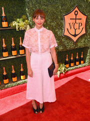 Rashida Jones sported a sheer lacy shirt at the 5th Annual Veuve Clicquot Polo Classic.