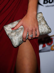 Arianny Celeste held onto a stunning beaded clutch while attending the Mixed Martial Arts Awards.