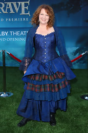 For the premiere of 'Brave,' Brenda Chapman wore a flouncy blue corset dress that looked like something right out of a period movie.
