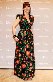 Allison Speer charmed in a colorful floral gown by Andrew Gn at the Fine Arts Museums of San Francisco Mid-Winter Gala.