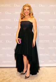 Kathryn Lasater donned a strapless black fishtail dress by Dior for the Fine Arts Museums of San Francisco Mid-Winter Gala.