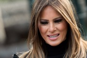 Melania Trump rocked a vampy smoky eye while visiting the Great Wall and Beijing Zoo.