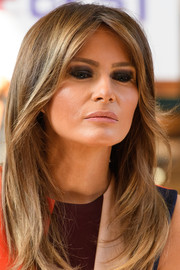 Melania Trump went for a super smoky eye when she visited the Chelsea Pensioners in London.