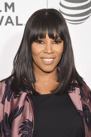 June Ambrose showed off a sleek 'do with rounded bangs at the world premiere of 'The First Monday in May.'
