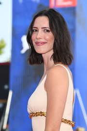 Rebecca Hall attended the Venice Film Festival premiere of 'First Reformed' wearing her hair in a textured bob.