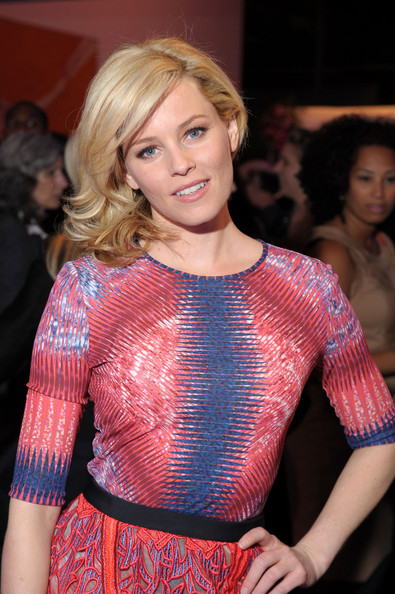 More Pics of Elizabeth Banks Medium Curls (1 of 7) - Shoulder Length Hairstyles Lookbook - StyleBistro