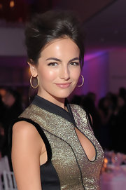 Camilla Belle wore her hair in a dramatic voluminous updo for the premiere of 'The Five Year Engagement.'