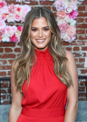 JoJo Fletcher looked boho-glam with her long, face-framing waves at the Fletch X Joelle Fletcher launch party.