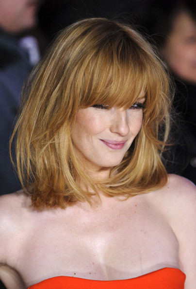 More Pics of Kelly Reilly Medium Straight Cut with Bangs (5 of 9) - Kelly Reilly Lookbook - StyleBistro