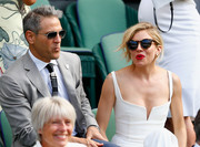 Sienna Miller sported a pair of Illesteva tortoiseshell sunnies while enjoying a Wimbledon match.