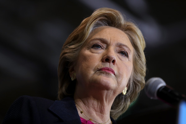 Hillary Clinton sported a short bob while campaigning in North Carolina.