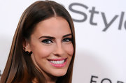 Jessica Lowndes wore a bright and shiny bubblegum pink lipgloss at the 'InStyle' Golden Globe Awards Event.