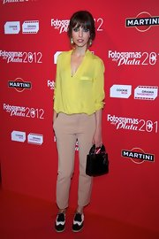 A yellow blouse topped off Leticia Dolera's red carpet look at the Fotogramas Awards.