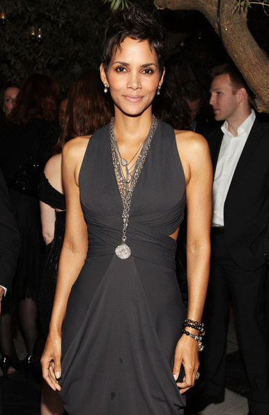 Actress Halle Berry attended the Pre-Oscar Cocktail party wearing an arm full of Horn beaded bracelets.