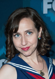 Kristen Schaal attended the Fox All-Star party rocking Shirley Temple curls.