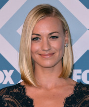 Yvonne Strahovski attended the Fox All-Star party wearing a super-sleek asymmetrical bob.