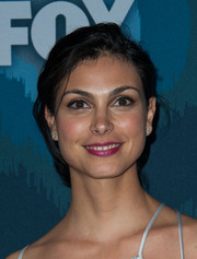 Morena Baccarin attended the Fox All-Star party wearing a tousled updo.