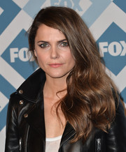 Keri Russell wore her hair loose in a wavy side sweep during the Fox All-Star party.