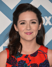 Shannon Woodward opted for a classic half-up half-down hairstyle when she attended the Fox All-Star party.