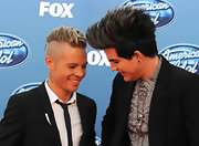 Sauli Koskinen matched Adam Lambert's daring hairstyle with his out-there fauxhawk.
