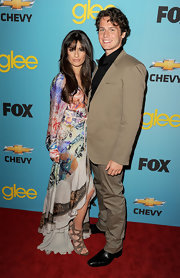 Jonathan shows off his natural curls at the Glee Premiere.