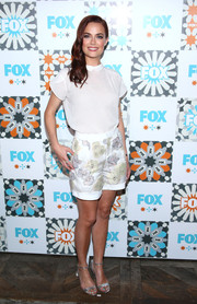 Rebecca Rittenhouse teamed her blouse with floral shorts for a totally cute look.