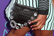 Mindy Kaling went ultra girly with this pink mani at the Fox 'Girls Night Out' event.