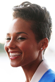 Alicia Keys sported a towering fauxhawk at the Foxtel Music Channels summer launch.