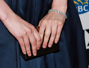 Greta Gerwig's tennis bracelet looked stunning against her dark dress at the 'Frances Ha' gala presentation.