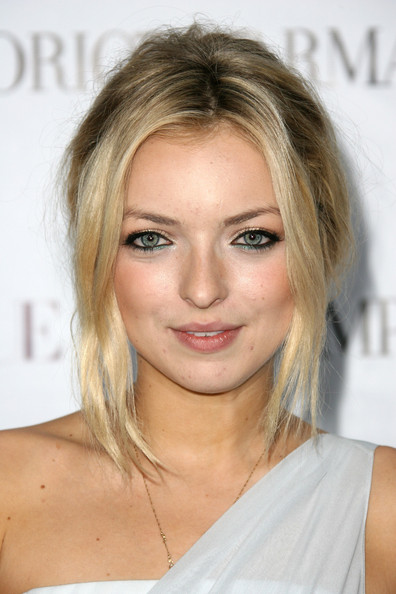 Francesca Eastwood Bobby Pinned Updo