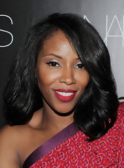 June Ambrose wore her mid-length waves down for the celebration of Francois Nars' book.