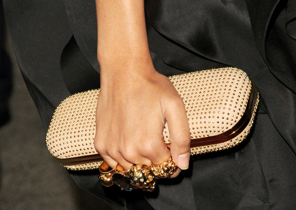 Freida Pinto Hard Case Clutch