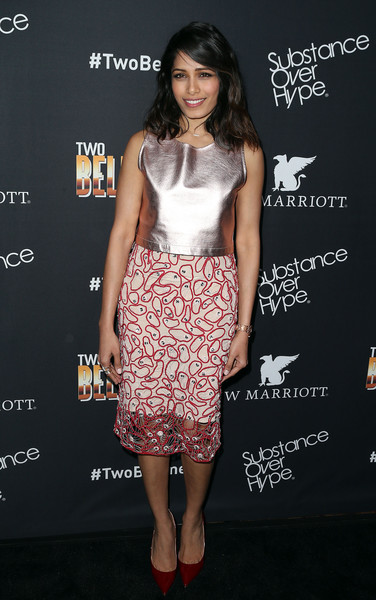 Freida Pinto Pencil Skirt