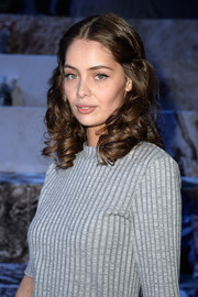 Marie-Ange Casta looked darling with her bouncy curls at the H&M fashion show.