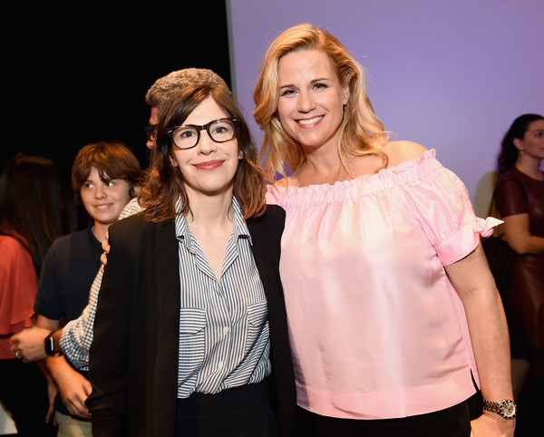 More Pics of Carrie Brownstein Pumps (1 of 34) - Heels Lookbook - StyleBistro [fashion,event,skin,beauty,pink,yellow,eyewear,blond,fun,fashion design,carrie brownstein,samantha bee,allana harkin,producer,la,full frontal,beverly hills,fyc,l,event]