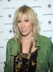 Natasha Bedingfield arrived at the G-Star Raw fall 2012 fashion show wearing pale peachy-beige lipstick.