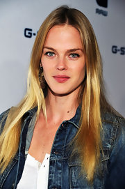 Shannan Click wore her silky hair long and straight at the G-Star Rodeo Store Opening.